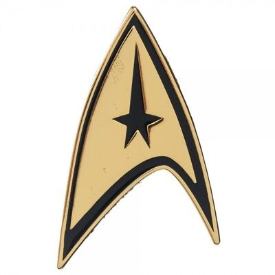 Officially Licensed Star Trek Command Badge Pin TOS Movie Metal Cosplay Costume