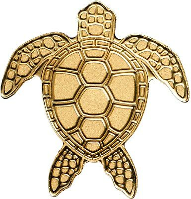 SEA TURTLE GOLD COIN Palau 2017 charming gift item