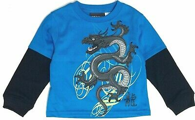 Tee Shirt t Toddler Boys Long Sleeve Top Graphic Chinese Dragon 2t 3t 4t New