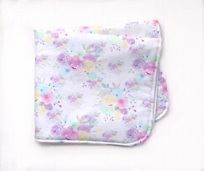 Baby Nappy Change Mat- Watercolour Floral Print