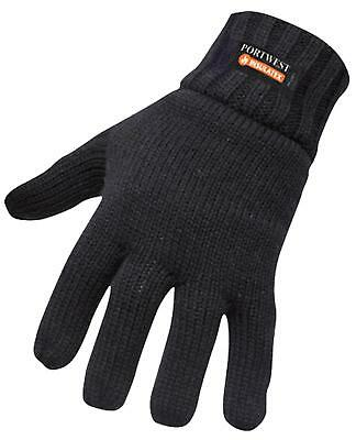 Portwest GL13 Men Knit Gloves Insulatex Lined Hand Protection Cold Insulation