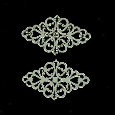20pcs 42 x 25mm Antique Silver Filigree Flower Rhombus Connector Link Charms