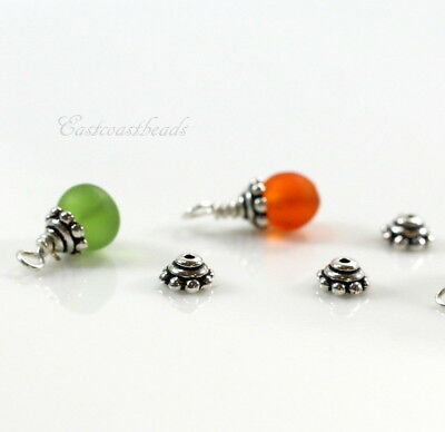 TierraCcast Beaded Bead Caps, 5mm, Silver Plated Pewter, 10 Pieces, 7112