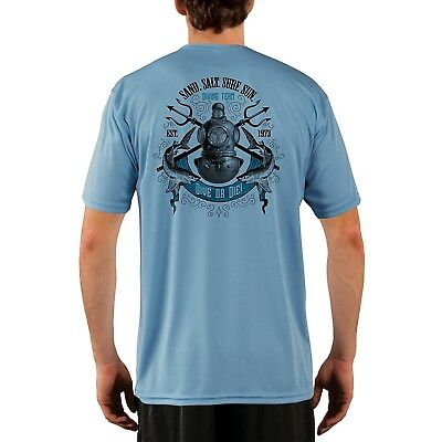 SAND.SALT.SURF.SUN Diving Team Men's UPF 50+ Protection Short Sleeve T-Shirt