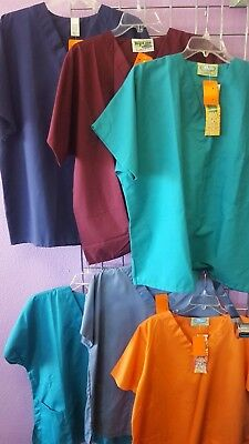 Scrub Tops Size Large Lot of (6)