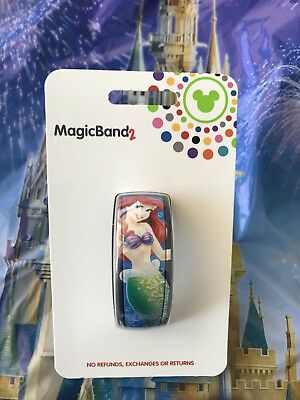 Disney Parks Magic Band Ariel The Little Mermaid Blue Magicband 2 New