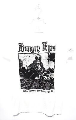 DOMREBEL DOM REBEL Vintage Collection Hungry Eyes T-Shirt White M L Crystals