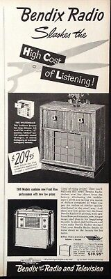 1948 Ad(Fw4)~Bendix Radio And Television Co. Baltimore, Md. 1949 Models