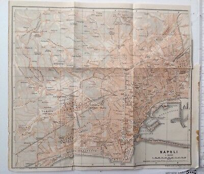 Plan Of Napoli,  Italy, 1909 Antique Map