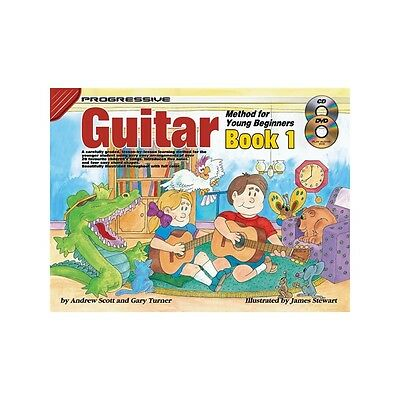 Progressive Guitar Method For Young Beginners Book 1 CD and DVD Learn to Play
