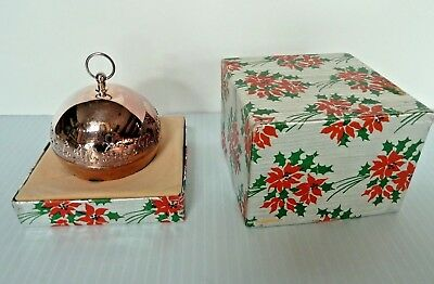Wallace 1998 Silver Plated Christmas Sleigh Bell Ornament W/ Box