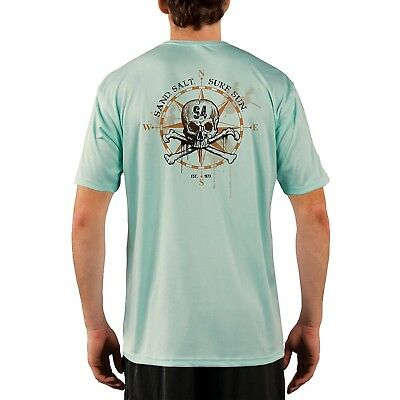 SAND.SALT.SURF.SUN Compass Skull Men's UPF 50+ Short Sleeve T-Shirt