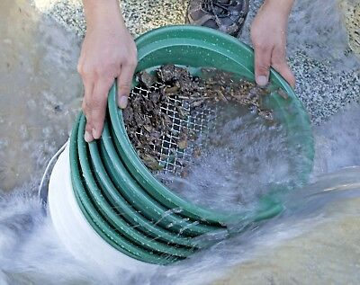 Classifier Sifting Pan Set Screen Gold Gem Panning Mining Prospecting Premium