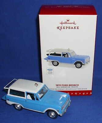 Hallmark Ornament 2016 All American Trucks #22 1970 Ford Bronco Truck NIB