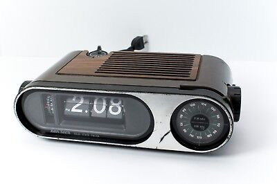 Vintage Ken-Tech Model R-660 Flip Number FM/AM Alarm Clock Radio