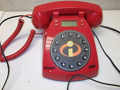 Disney's Pixar The Incredibles Red Collector Phone Telephone Free Shipping