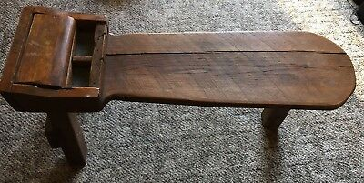 Antique Primitive Cobbler's Shoe Repair Wood Oak Bench ca. Early 1900