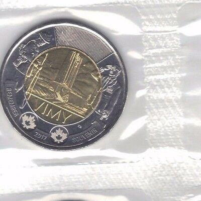 Canada 2017 Battle Of Vimy Ridge 100Th Anniversary Two Dollar Coin Still Sealed