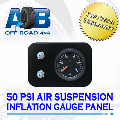 Pressure Gauge TWIN NEEDLE AIR SUSPENSION INFLATION VALVE 50 PSI