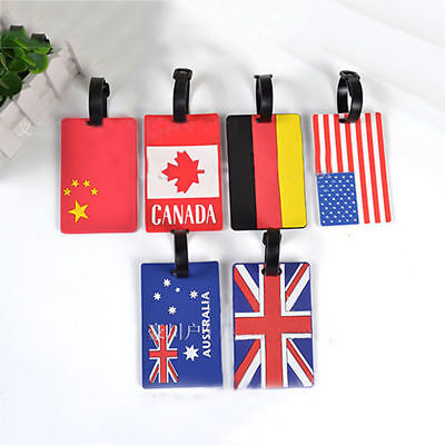 Flag Design PVC Baggage Licensing Luggage Tag Luggage Boarding Tag