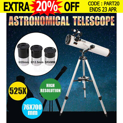 Astronomical Telescope 76x700mm 350x High Resolution Night Vision Spotting Scope