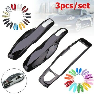 3Pcs Remote Key Fob Case Shell Covers Fits For Porsche Panamera Macan Cayman 911