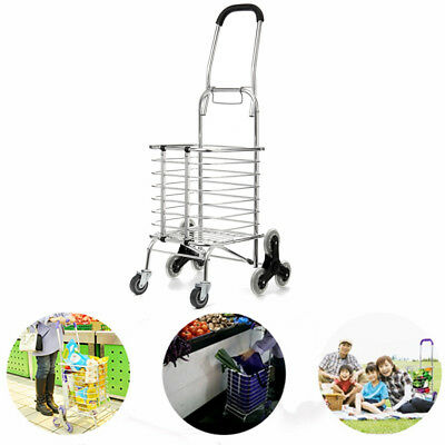 Folding Portable Stair Climbing Shopping Cart Trolley Ladder Climber Foldable US