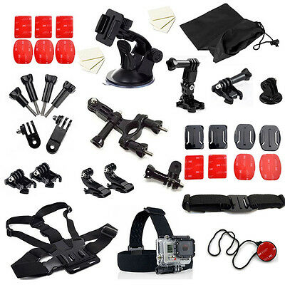 Accessories Kit set for Gopro Go pro hero 5 Session 5 4 3+ 3 SJCAM SJ5000 SJ6000