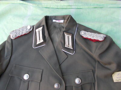 Gr 44-56 orig DDR NVA Offizier Stasi Major MfS,Uniform Jacke, ähnl. Wehrmacht WH