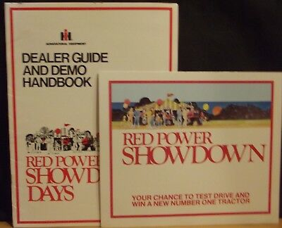 IH INTERNATIONAL HARVESTER Red Power Showdown dealer guide & poster brochure