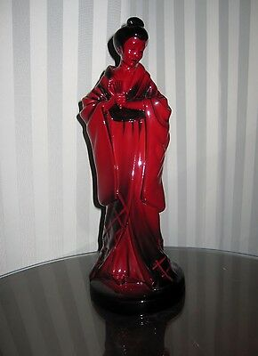 Beautiful Rare Royal Doulton Flambe ** The Geisha** Hn3229-Issued Only In 1989