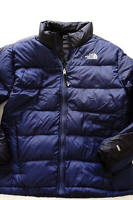 the north face '550' blue goose down jacket…size boys large (14-16)…vgc...