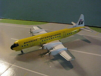 """Aviation 200 Set Of 3 Braniff L-188 """"electra's"""" 1:200 Scale Diecast Metal Models"""