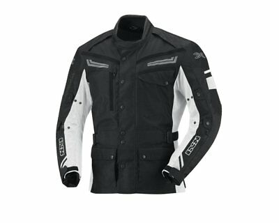 Motorcycle Jacket IXS EVANS black and white Gr.XS