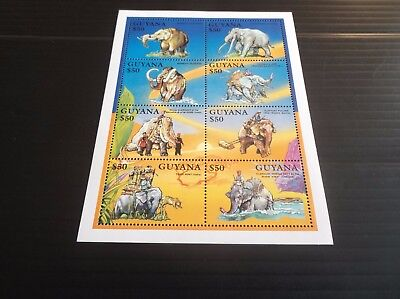 Guyana Elephants Sheetlet Mnh