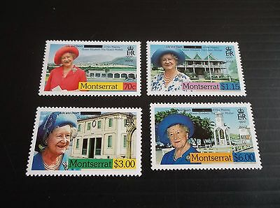 Montserrat 2002 Sg 1223-1226 Life And Death Of Queen Mother Mnh