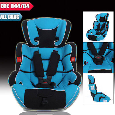 Blue Convertible Car Seat Infant Safety Children Baby Booster Group 1/2/3 9-36kg