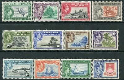 GILBERT & ELLICE ISLANDS-1939-55 Set to 5/- Sg 43-54 LIGHTLY MOUNTED MINT V22001