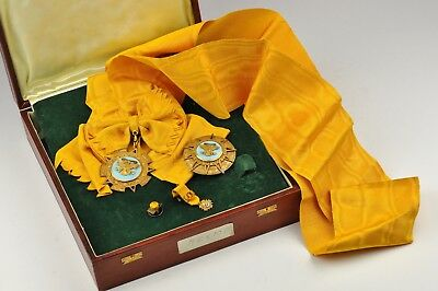 Mexico Order of the Aztec Eagle (star) with document and original box