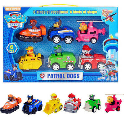 New 6x Set PAW Patrol T0y Plush D0ll Skye Racer Pups Kids Gifts Hot
