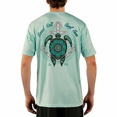 SAND.SALT.SURF.SUN. Mandala Turtle Men's UPF 50+ Performance T-shirt