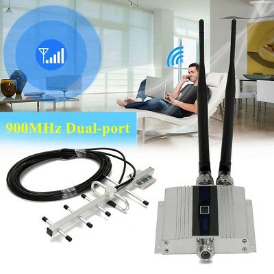 900Mhz LCD GSM Cell Phone Signal Booster Amplifier Repeater +Yagi Antenna US