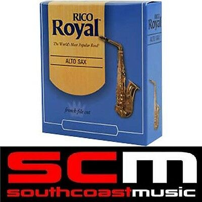 Brand New Rico Royal Alto Sax Saxophone 2.5 Reeds Box Of 10 Sax Reed