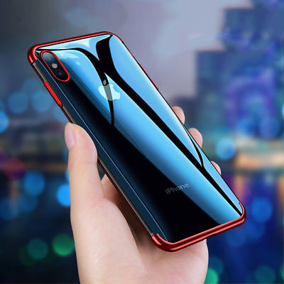 Luxury Ultra Slim Shockproof Silicon Clear Case Cover for iPhone X 8 6s 6 7 Plus