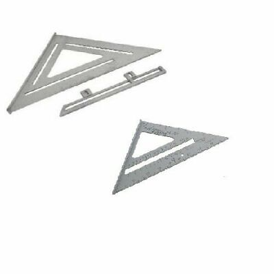 "Aluminium Roofers square/ speed square twin pack 6"" and 12"" squares"