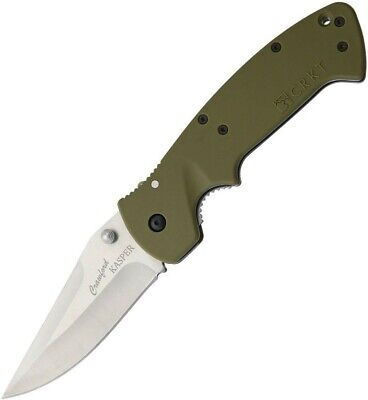 COLUMBIA RIVER CRKT OD Green CRAWFORD KASPER Straight Folding Knife 6773SOD New!