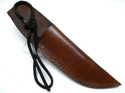 """Brown Leather Sheath For Straight Fixed Blade Knife Up To 6"""" Blade SH1158"""