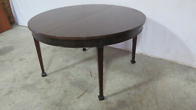 Round Dining Room Table Mahogany Banquet Vintage Rare 117""