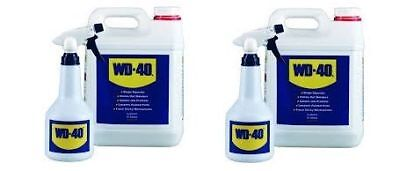 WD40 10 Litre with 2 Applicator Spray Bottles WD40 Multi Purpose Lubricator 10 L