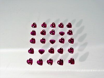 Red Ruby Heart Cut Shape SIZE CHOICE Loose Stones Corundum Gemstones
